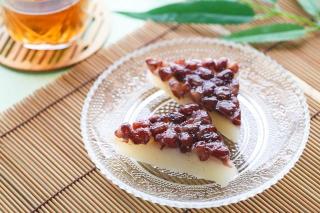見た目にも涼しげな水無月は夏を乗り切るのに最適な和菓子